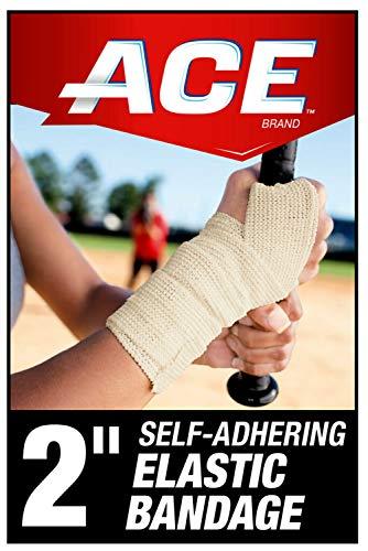 ACE 2' Self-Adhering Elastic Bandage Wrap, White