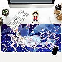 ゲーミングマウスパッド アニメカードキャプターさくらマウスパッドゲーマー大ゲーミングキーボードマット XL ロックエッジラップトップデスクマット C 900x300x3mm