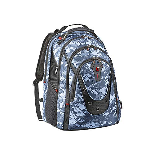 Wenger 605082 IBEX 17' Backpack with shock absorbing shoulder straps In Marine Pixel {23 Litres}