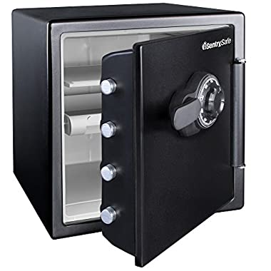 SentrySafe Fire and Water Safe, Extra Large Combination Safe, 1.23 Cubic Feet, SFW123CU