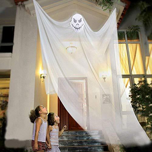 AOFOX Fantasma Appeso di Halloween Prop Scheletro Volante Appeso Scheletro, 3,3 m di Lunghezza Decorazioni sospese di Halloween per Bar da Festa in Giardino (Bianco)