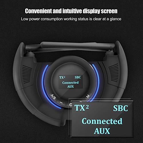 Transmisor Bluetooth 5.0 Receptor Adaptador de Audio de Fibra óptica de bajo retardo para proyector de computadora de Escritorio