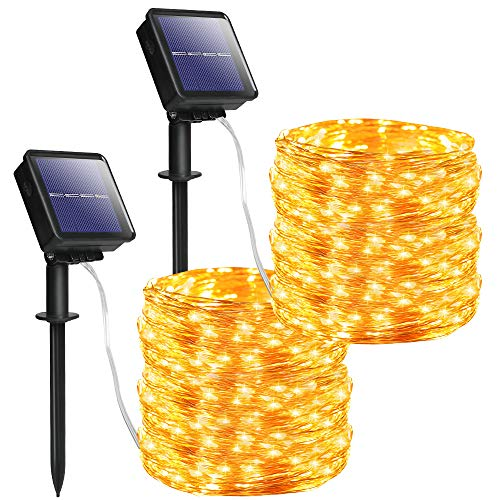 YKB Solar String Lights Outdoor 2 Pack...