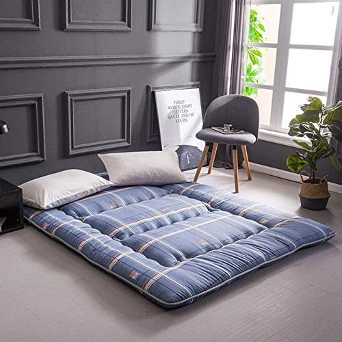 YWYW Foldable Tatami Mat for Sleeping Thick Soft Polyester Mattress Cover Single Double Padded Bed Japanese Bed Student Dormitory 150x200cm (59x79in) Mattress