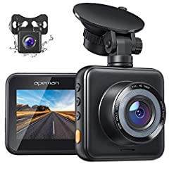 Dual Lens, No More Fear Rear Collisions - APEMAN C420D Dash Cam is like two cameras for the price of one. SHARP FULL HD resolution and dual 170° ultra wide angle lenses provide outstanding image quality with a broader field of vision. Superior 1080p@...