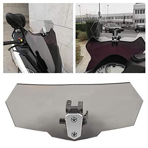 Deflettore vento moto - Deflettore vento regolabile universale per parabrezza moto (nero, fulvo) (Colore: nero)