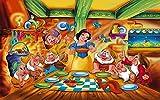 WSXYD 1000pcs Puzzle Rompecabezas de Madera Rompecabezas Desafío de Inteligencia de cartón con póster de Blancanieves y los Siete enanitos * para Infantiles Adolescentes Bricolaje Brain Challenge