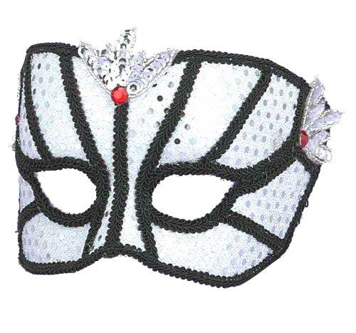 Venetian Couple Mask Sv/bk
