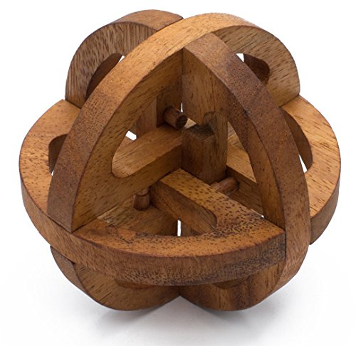 SiamMandalay Global Puzzle: 3D Puzzle - Rompecabezas de Madera - Juegos de Rompecabezas - Juegos Educativos - Juegos de Lógica with Free SM Gift Box (Pictured)