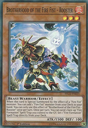 Yu-Gi-Oh! - Brotherhood of The Fire Fist - Rooster - FIGA-EN025 - Super Rare - 1st Edition - Fists of The Gadgets