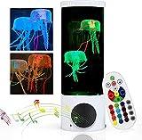 Lámpara de medusas Lámparas de lava con Altavoz Bluetooth, Lámpara de humor de acuario de medusas LED de escritorio con 16 ajustes de color para dormitorio de niños Regalo de cumpleaños de Navidad