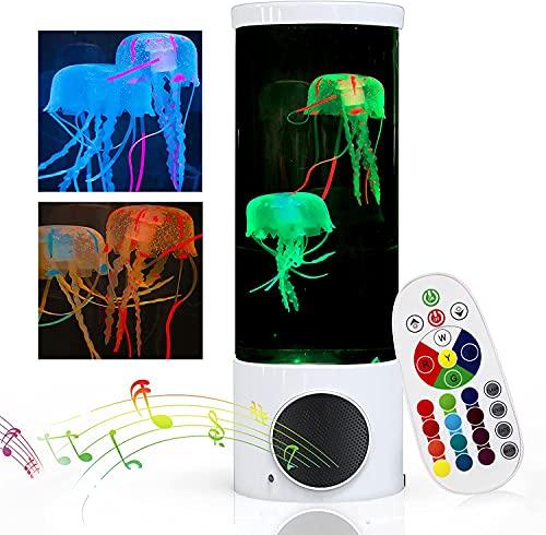 Lámpara de medusas Lámparas de lava con Altavoz Bluetooth, Lámpara de...