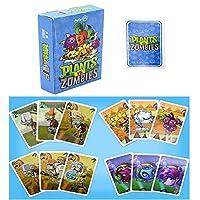1セット漫画ポーカーカード植物対ゾンビアクションフィギュア戦争高品質印刷トレーディングカード子供用ギフト玩具