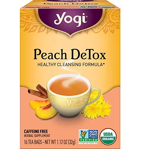 Yogi Tea - Peach DeTox Tea (6 Pack) - Healthy Cleansing Formula with Traditional Ayurvedic Herbs - Caffeine Free - 96 Organic Herbal Tea Bags