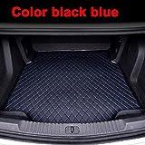 ZHXMI Kofferraummatten für BMW 3er F30 F31 F34 GT Gran Turismo 320i 335i 318d 320d 325d 328d 330d 335d-Schwarz Blau