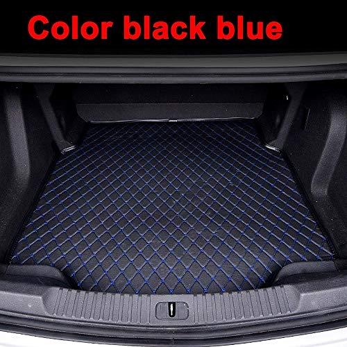 JASAFAJFH für Mercedes Benz C117 X117 CIA Klasse 180 200 220 250 260 AMG 45, Custom Kofferraummatten Hemden Teppiche Teppich-Schwarz blau
