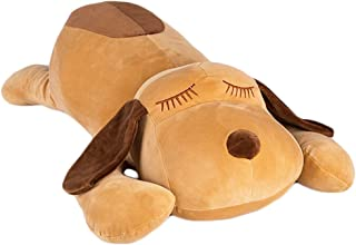 elfishgo Soft Large Dog Plush Hugging Pillow, Giant Dogs Puppy Stuffed Animals Toy Gifts for Kids (Brown, 19.7