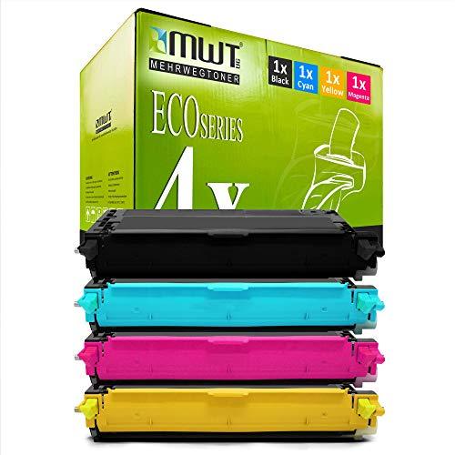 4X MWT Toner für Dell 3130 cn ersetzt Schwarz Blau Rot Gelb Patronen Druckerpatronen