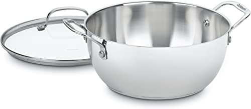 discount Cuisinart Chef's Classic Stainless outlet sale 5-1/2-Quart Multi-Purpose Pot with popular Glass Cover online sale