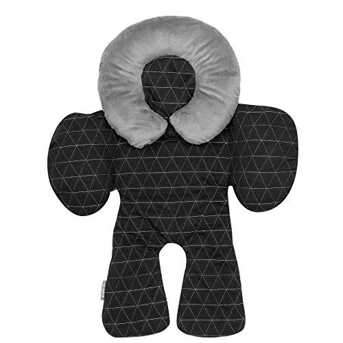 JJ Cole Head and Body Support, Black Tri Stitch