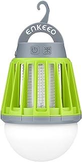 enkeeo 電撃殺虫器 UV光源誘引式 薬剤不要 赤ちゃんやペットにも安心 LEDランタン 誘虫灯 蚊取り 照明両用 2000mAh容量 USB充電式 IPX6 完全防水 SB-6057【メーカー保証】(グリーン)