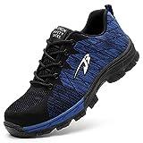 EVIICC 安全靴 作業靴 地下足袋 メンズ レディース 耐磨耗 衝撃吸収 つま先保護 スニーカー 登山靴 防滑 通気性 軽量