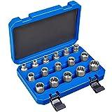 TecTake Juego de llaves tubulares dentados exterior / interior 1/2' | Acero al...
