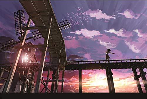 Puzzle Baby Puzzles Puzzle 1000 Piezas Puzzle Niños Y Adultos Navidad Paisaje De Anime-A484(75 * 50Cm)
