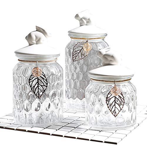Arco De Azúcar regalo de bodas 13cm Alta-opción de 2 Vidrio claro Tarro De Caramelo