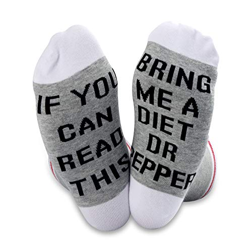 TSOTMO 2 Pairs If You Can Read This Bring Me a Diet Dr Pepper Socks (Diet Dr Pepper)