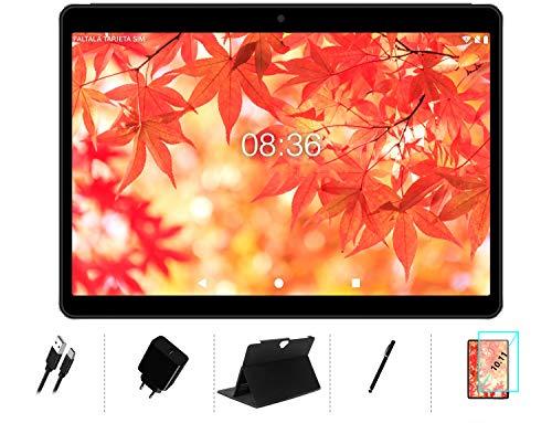 Tablet 10 Pollici Android 10 OS, MEBERRY Ultra-Veloce Dual LTE SIM Tablet PC 4GB RAM+64GB ROM, Supporta DAD| 128GB Espandibili| Google GMS| 8000mAh| WIFI| Bluetooth| GPS| Fotocamera(5MP+8MP), Grigio