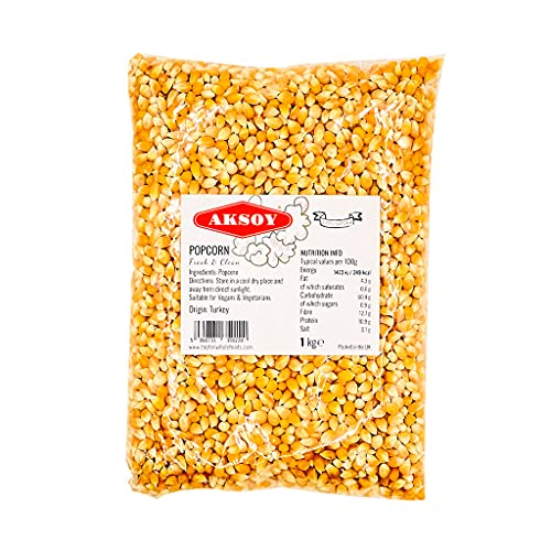 🍿 🌽 1KG Popping Corn Kernels - Popcorn Seeds || Stove-top & Microwave Popcorn & Air Popper Friendly Popcorn || New seasonings Corn, New harvested || Popcorn 1KG …