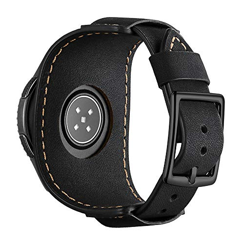 Coobes-Compatible-with-Samsung-Galaxy-Watch-42mmActive-40mmActive-2-40mm-44mmGear-S2-ClassicGear-Sport-Bands-20mm-Genuine-Leather-Cuff-Replacement-Strap-with-Stainless-Steel-Buckle-Men-Women