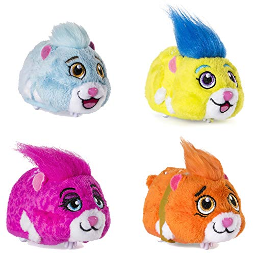 Spielotopia Zhu Zhu Pets Hamsters Set mit 4 Hamstern, Chunk, Rocky, Roxie und Mr. Squiggles