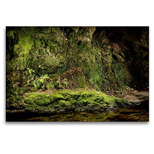 CALVENDO Premium Textil-Leinwand 120 x 80 cm Quer-Format Im Licht der Nacht - Baden Baden Geroldsau, Leinwanddruck von Stefan BAU