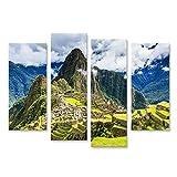 islandburner Bild Bilder auf Leinwand Machu Picchu Peru