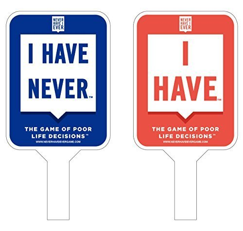 Never I Have Ever Paddles, Set of 10