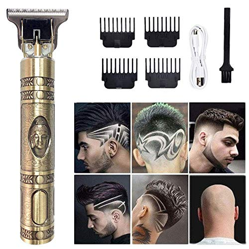 Easy Trim Rasierer Herren Haarscherer Batterie,Outliner Grooming Trimmer Haarschneidemaschine,Easy Home haarschneider,USB Wiederaufladbar T-Blade Trimmer mit