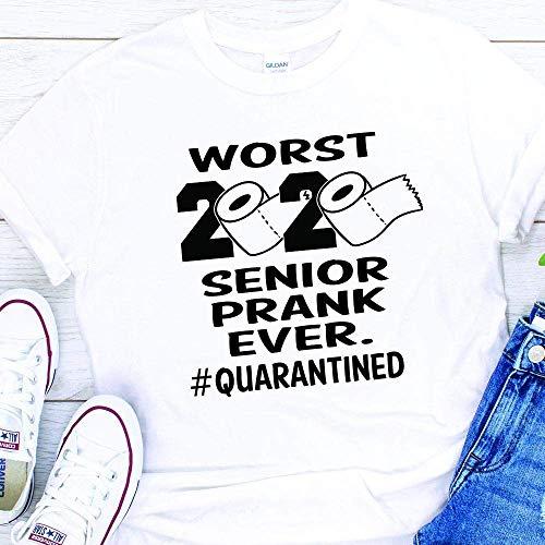 Senior Graduation Class of 2020 2021 Funny Prank Coronavirus Quarantine Shirt