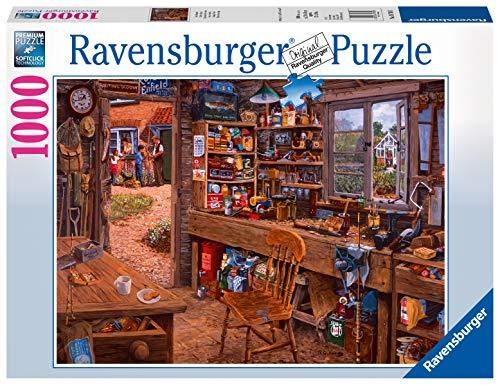Ravensburger Puzzle 19790 - Opas Schuppen - 1000 Teile Puzzle für Erwachsene und Kinder ab 14 Jahren