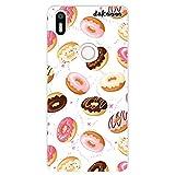 dakanna Funda Compatible con [ Bq Aquaris X5 Plus ] de Silicona Flexible, Dibujo Diseño [ Donuts de Crema y Chocolate ], Color [Borde Transparente] Carcasa Case Cover de Gel TPU para Smartphone