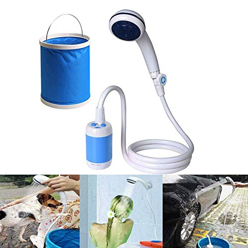 KEBY Outdoor Portable Shower, Bathing Electric Shower Dormitory, Mobile Car Outdoor, Outdoor Camping Shower Pump with Removable Usb Batteries, Shower Head Bidet Water Sprayer for Camping Hiking