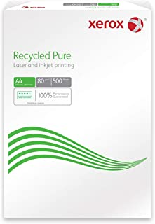Xerox 003r98104 Recycled Pure ambiente/carta inkjet, DIN A4, 80 G/M², 500 fogli, colore: bianco