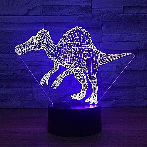 Linterna mágica 3D LED Luz nocturna Novedad Dinosaurio
