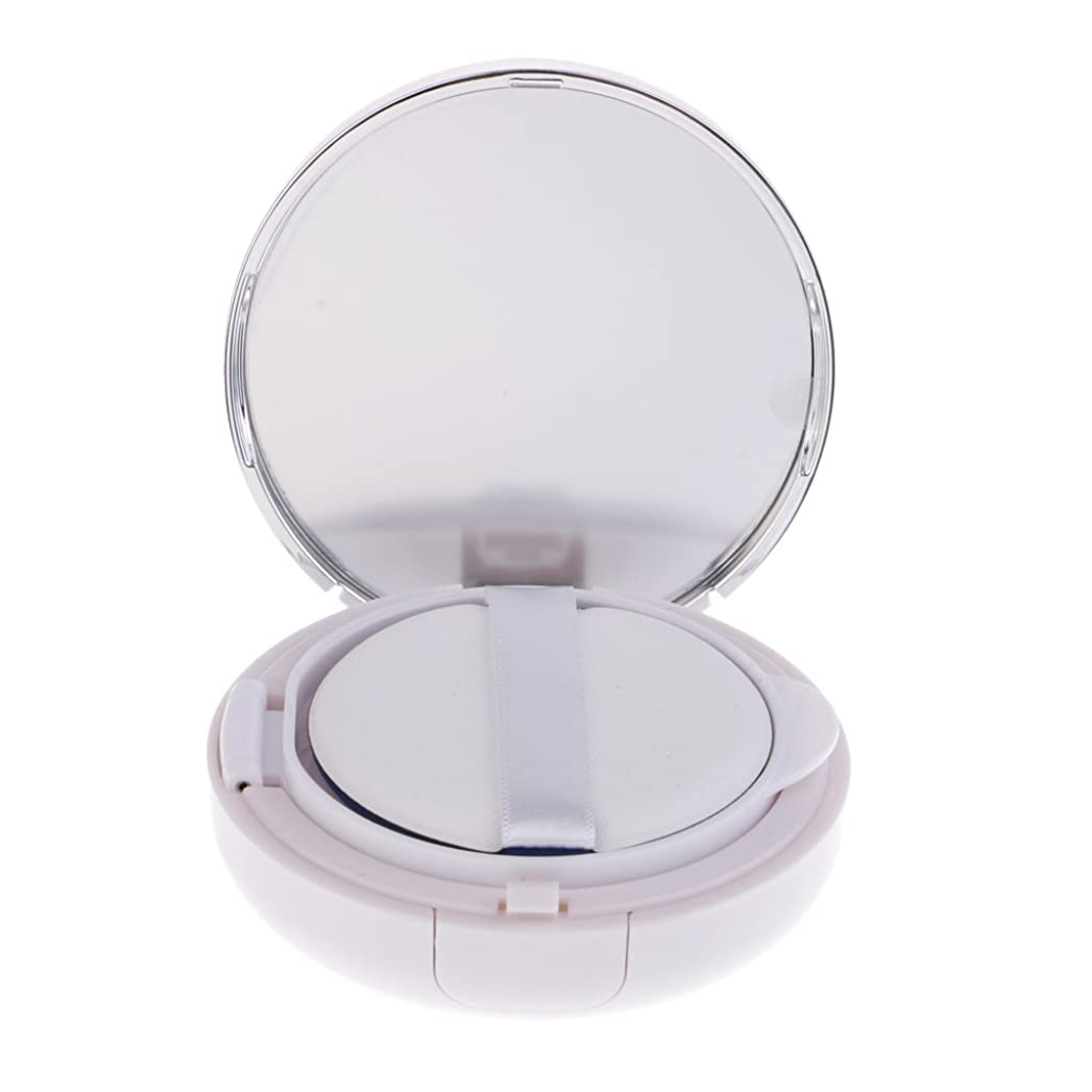 SM SunniMix パウダーコンテナ ファンデーションケース エアクッション BBクリーム 詰替え 化粧品 DIY 全2色 - 銀