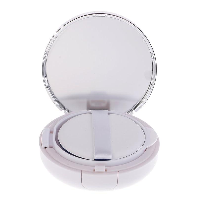 振動させる規模エッセンスKesoto メイクアップ 空パウダーコンテナ ファンデーションケース エアクッション パフ BBクリーム 詰替え 化粧品 DIY プラスチック製 2色選べる - 銀