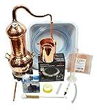 Copper Garden Kupfer Destille Essence Plus 2 Liter I Komplettes Destillen Set mit Aromakorb zur Kolonnenbrennerei I Legales Destilliergerät für ätherische Öle/Hydrolate/Düfte/Wasser etc.