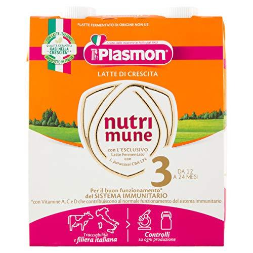 Plasmon Nutri-Mune Latte 3 Crescita Liquido 2x500ml