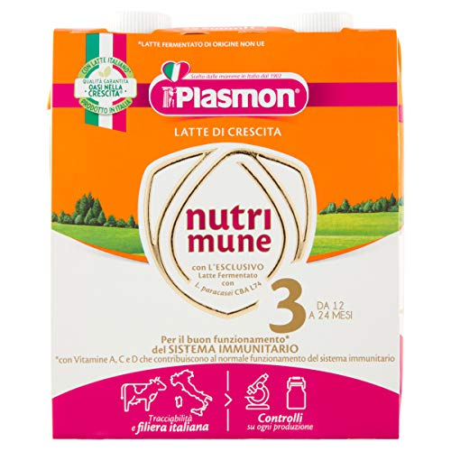 Plasmon Latte Liquido 3, 2 x 500ml