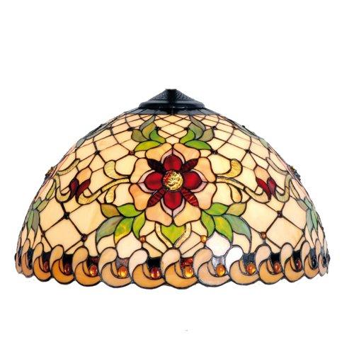 LumiLamp 5LL-9929 Tiffany Stil Lampenschirm Ca. Ø 30 cm dekoratives buntglas handgefertigt glasschirm